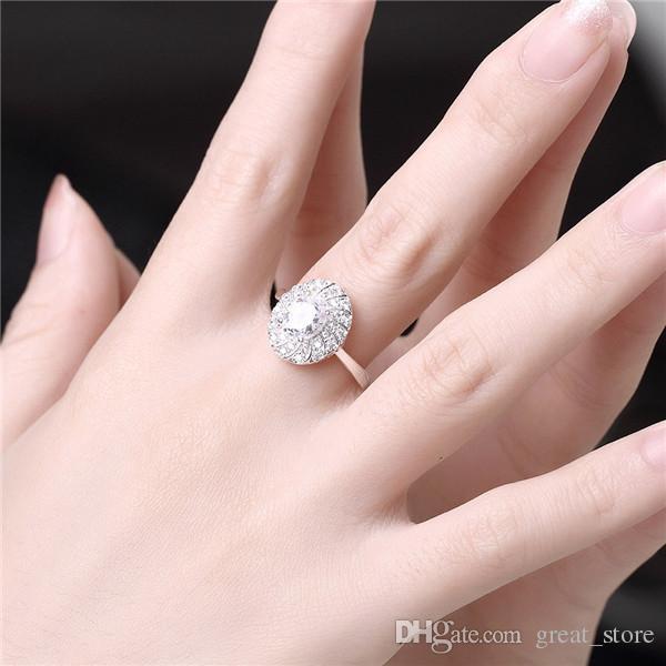 Brand new 925 silver Gem Flower Ring GSSR766 Factory direct sale brand new fashion sterling silver finger ring