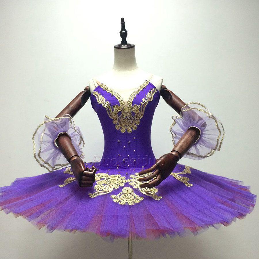 Tutu di balletto di prestazioni viola di tutu di balletto classico giallo delle ragazze in costumi di tutu di balletto rosso del lago dei cigni SD0011