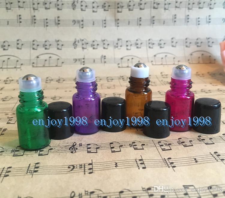 3600 sztuk 2 ml Mini Tiny Refillable Puste butelki E Roll Enalt na butelkach Fiolki z metalowymi kulkami za pomocą bezpłatnej wysyłki DHL
