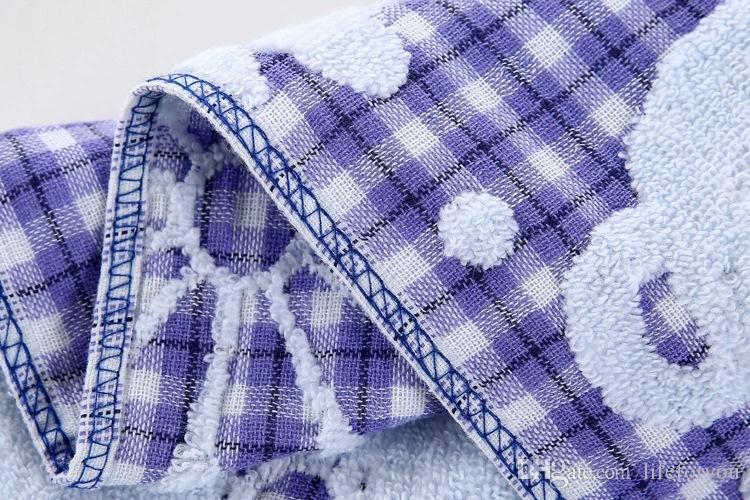 bath towels baby towels washcloths cotton baby bib cartoon cute towel for kindergarten children sweat and slobber 25X50CM