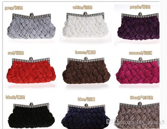 2016 neue mode dame clutch bag brautbeutel gestrickte abendtasche 9 farben