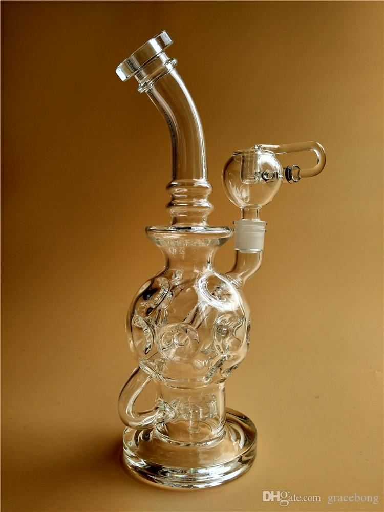 Newest Glass Bongs Oil Rigs Glass Design Eggosphere combo of ball rig with 14 mm joint glass water pipes