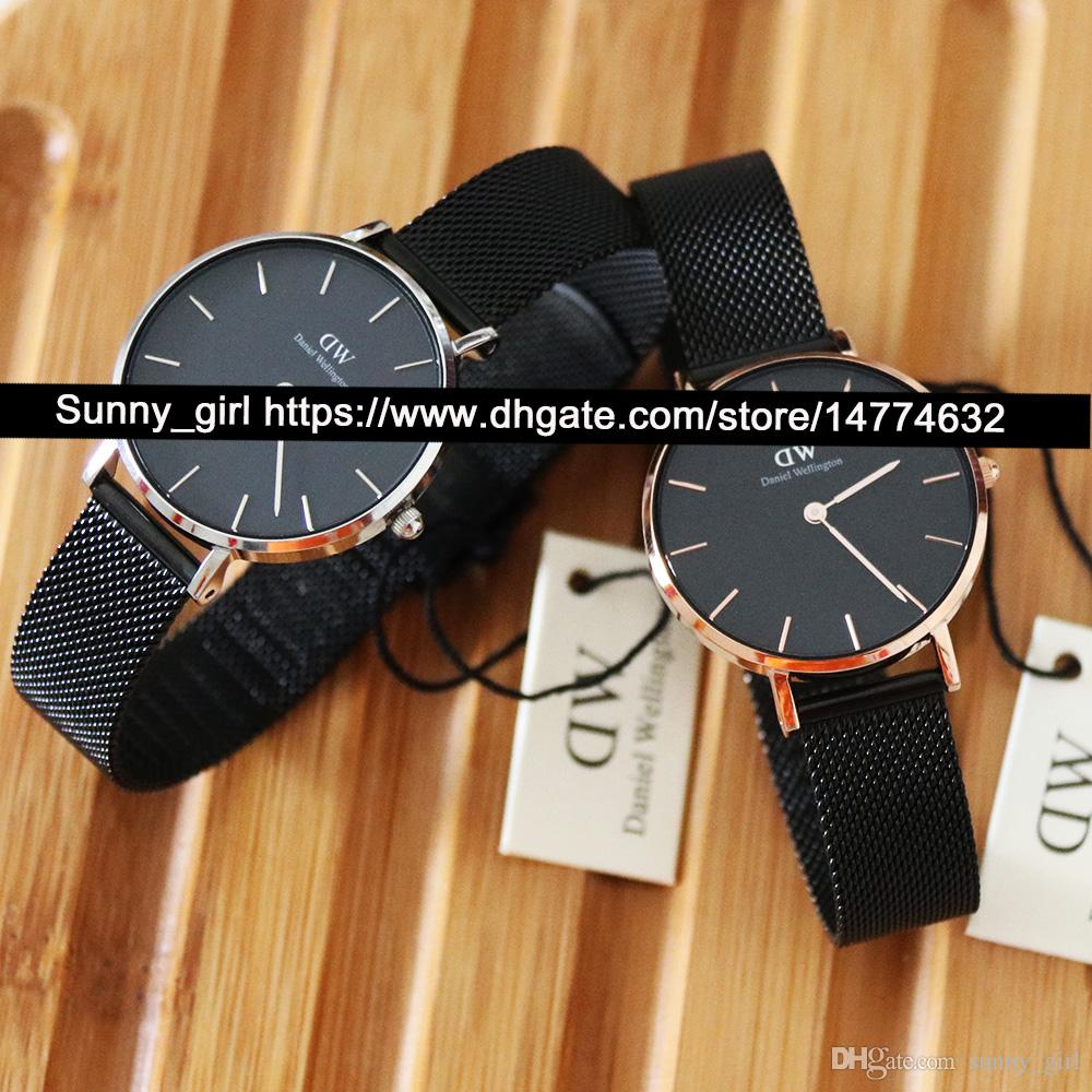 8d6f287a26e5 Best Version 32mm Women Watch Stainess Steel Dress Watch White Black Face  Leather Nylon Stainless Steel Strap Watch Box is Optional Online with   44.92 Piece ...