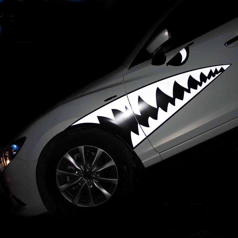 Supper Cool Car Sticker Shark Tooth And Eyes Car Body Sticker - Cool car decal stickers