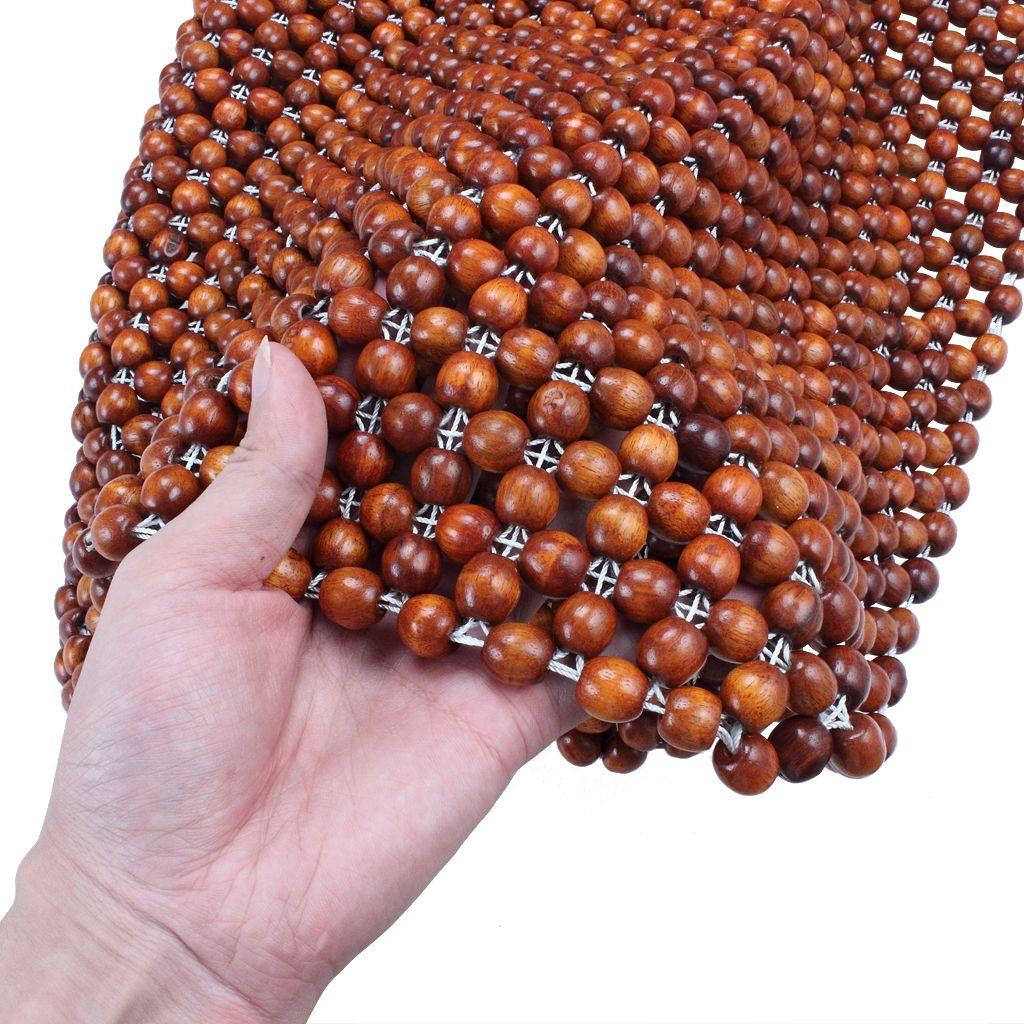 Cojín de cojín de asiento de bolas de madera natural para el coche Cojín de confort premium de lujo reduce la fatiga del automóvil o camión o asiento de oficina
