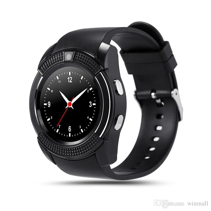 "Deluxe V8 Bluetooth Smart Watch 1.22"" IPS Screen with SIM card GSM phone Call Camera For Android IOS Phone"
