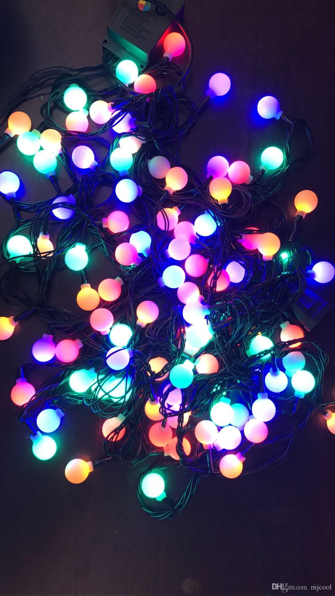 Beleuchtung strings 10m100 leds kirschkugel lichterkette led low-voltage dunkelgrüne linie starry patio string lichter für outdoor-dekoration