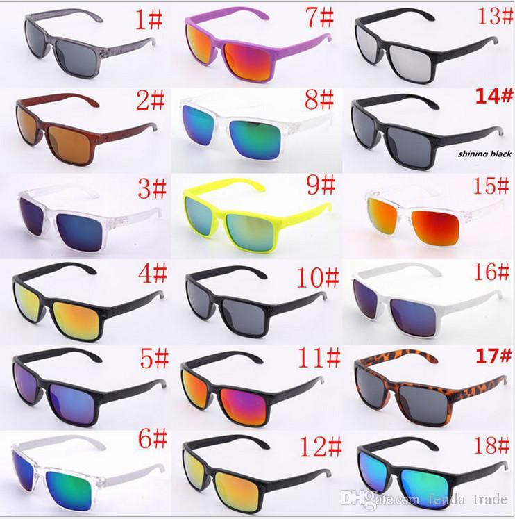 Лучшая горячая распродажа бренд логотип не поляризованный UV400 солнцезащитные очки мужчины женщин спорт велосипедные очки очки очки очки для очков Eyewear 18 варианты цвета