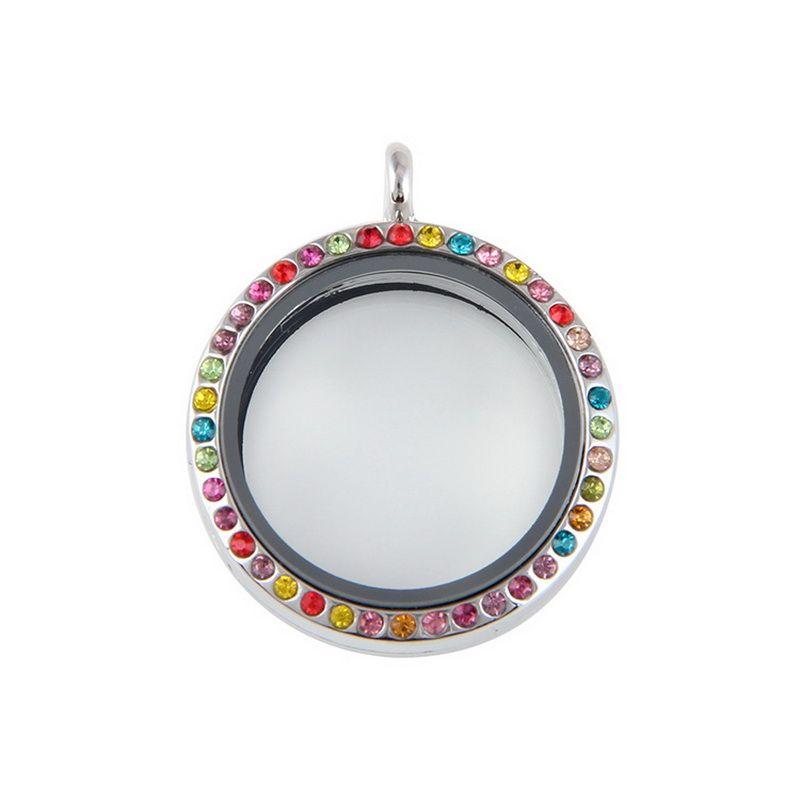 10 pz / lotto Misto 30mm Cristallo Galleggiante Lega di Vetro Magnetico Memoria Vivente Charms Gioielli Ciondolo Medaglione