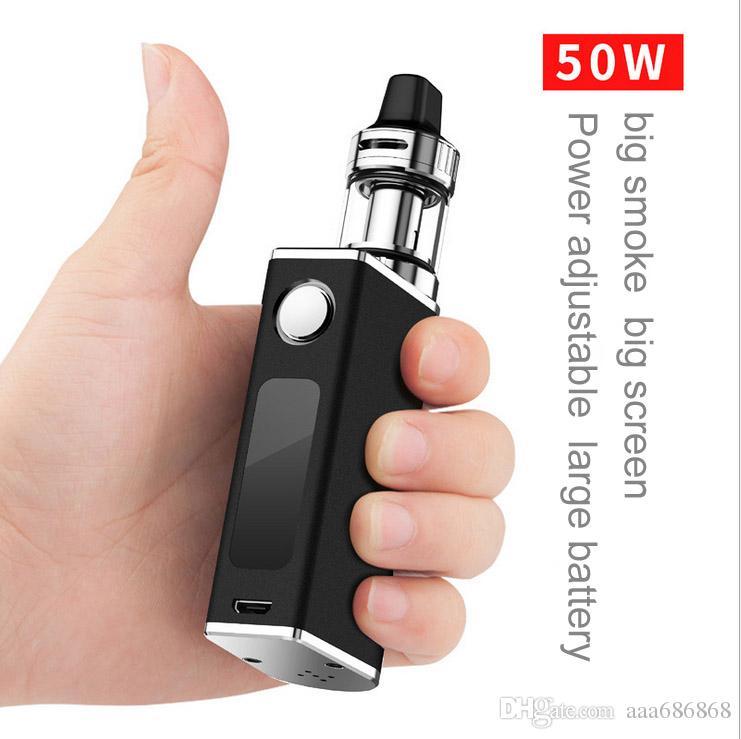 Electronic Smoke Big Smog 50W Taste Type Steam E Cigarette Pen 1500mAh High Energy Density Battery Vape Atomizer Vaporizer Tank HotSale