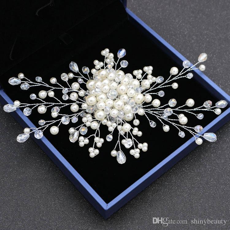 Nouvelle Arrivée Belle Perles De Cristal Peigne À Cheveux Accessoires Boucles D'oreilles