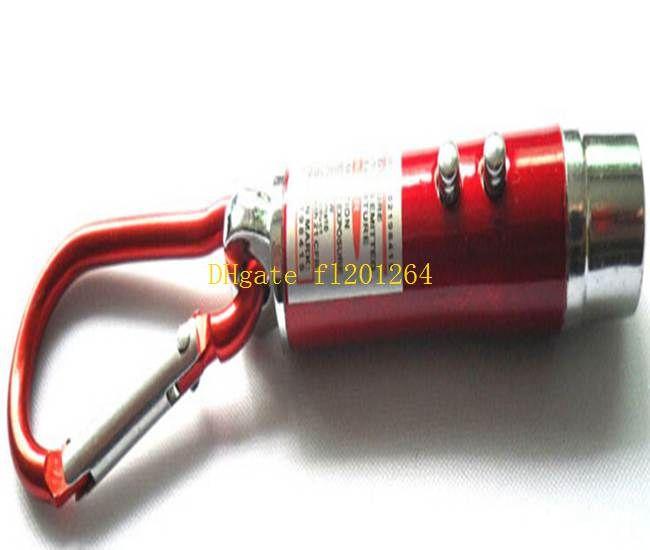 / 3 en 1 Laser Pen Pointer Keyring + Mini LED FlashLight Torch Linterna + emergencia Llavero Flash Light