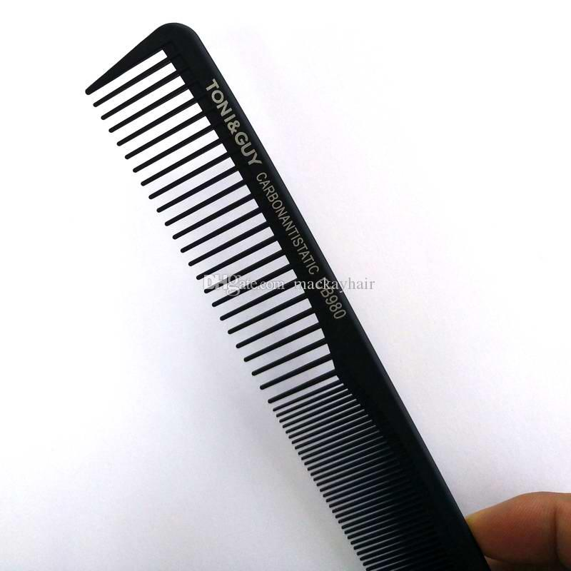 Professional Salon Carbon Comb Barber Comb TonyGuy Hair Cutting Comb Anti-Static Plastic Comb Black Color