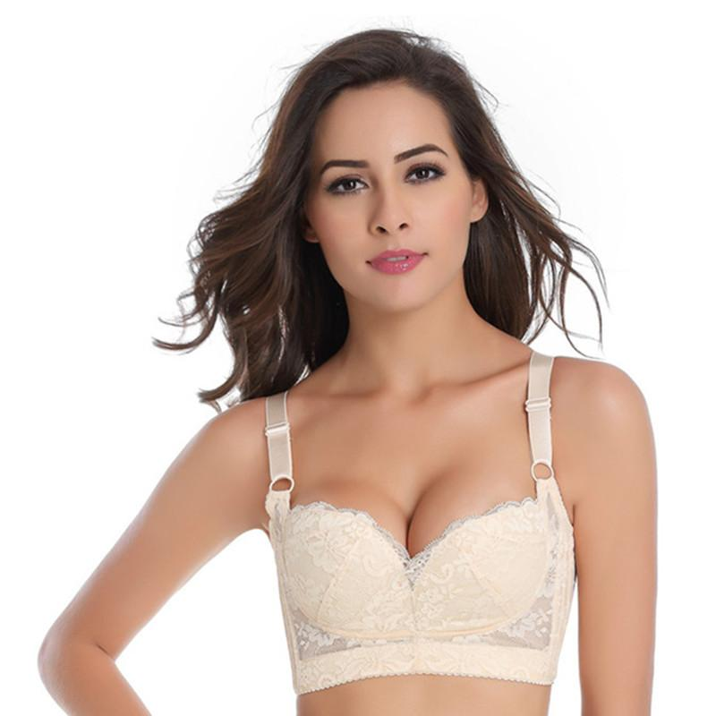 12ae1386b3bd9 Push Up Lace Bra Women Lingerie Gather Adjustable Underwear Women ...