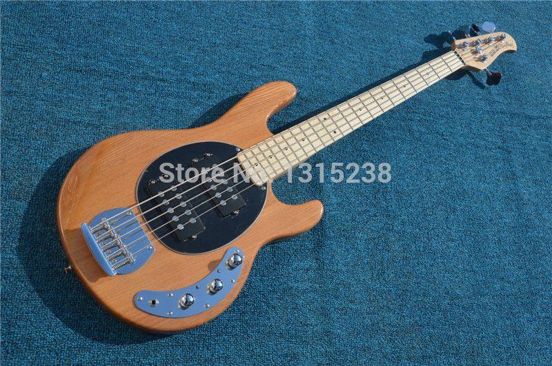Freies verschiffen Neue guitarraOEM e-gitarre holz string fünf bassgitarre shop guitarra / guitar China