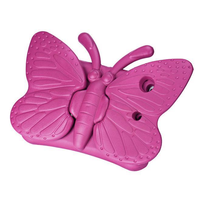 Dibujos animados en 3D Mariposa Niños Silicona Híbrida Espuma A prueba de golpes Suave soporte Fundas de goma EVA Tote Holder para Ipad 2/3/4 Ipad Mini 1/2/3