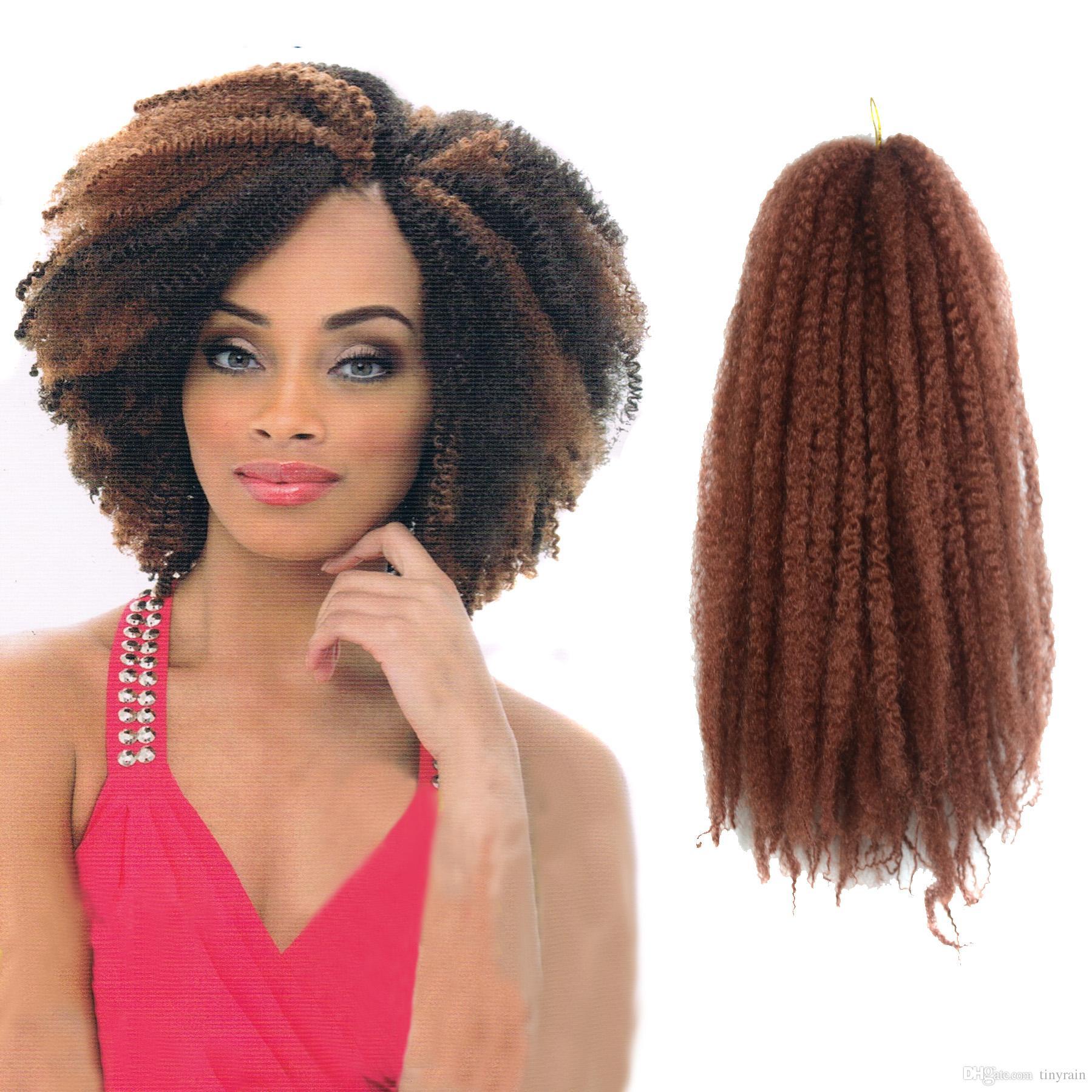 Marley Hairstyles: 2018 Afro Kinky Twist Marley Braid Hair 32strands