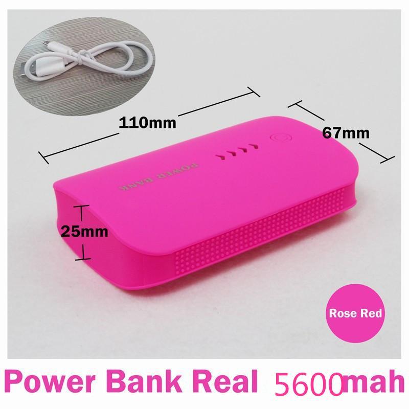 Capacità piena reale 5600mAh della Banca portatile di alimentazione con USB LED batteria di sostegno esterna del caricatore Powerbank mobile