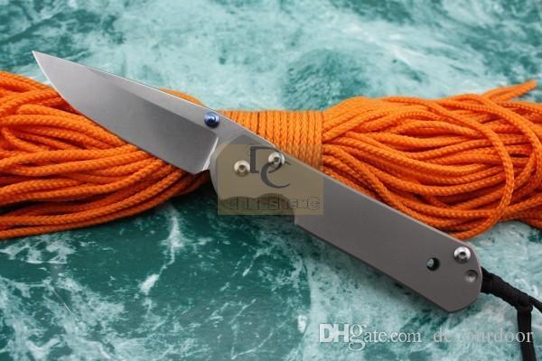 Cinghiale Chris Reeve Coltello chiudibile in stile Sebenza 21 con lama pieghevole D2 con scatola originale in lega di titanio TC4 satinata lucida