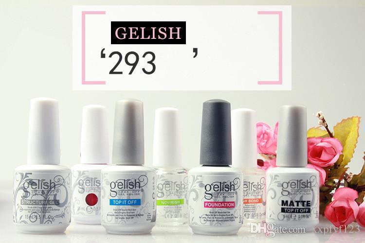 Massima qualità Harmony Gelish i 15ml Gel Polish Accessori unghie Gel colori UV Soak Off Nail Gel Fedex AFFB11
