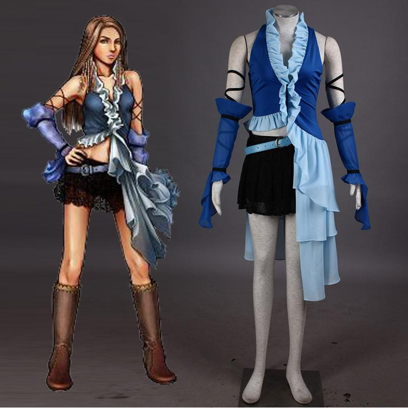 japanese psp game final fantasy x 2 yuna cosplay costume carnaval costume halloween costumes for women party dress custom babies halloween costumes banana