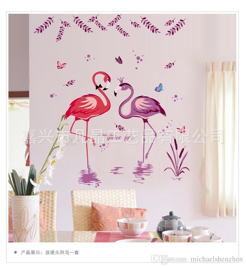 Adesivi murali Flamingo sfondi stickers murali bambini rimovibili novità carta da parati cameretta