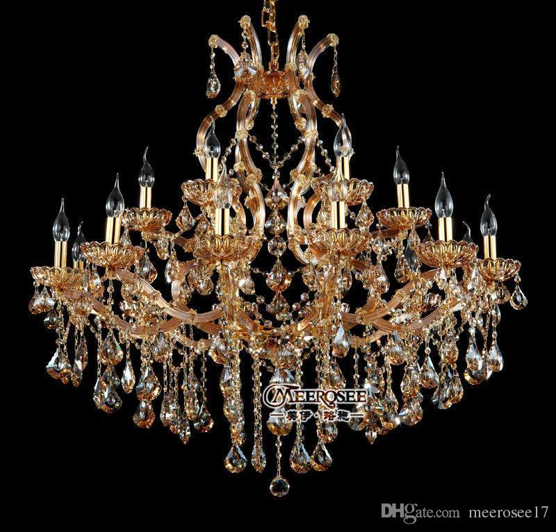 18 lightholder chandelier crystal beads modern chandelier amber 18 lightholder chandelier crystal beads modern chandelier amber lighting fixture glass cristal lustre for dining living room chandelier for bedroom ceiling aloadofball Choice Image