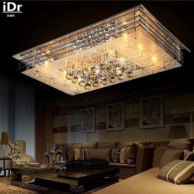 Großhandel Kristall Led Deckenleuchte Schlafzimmer Lampe Rechteckige ...