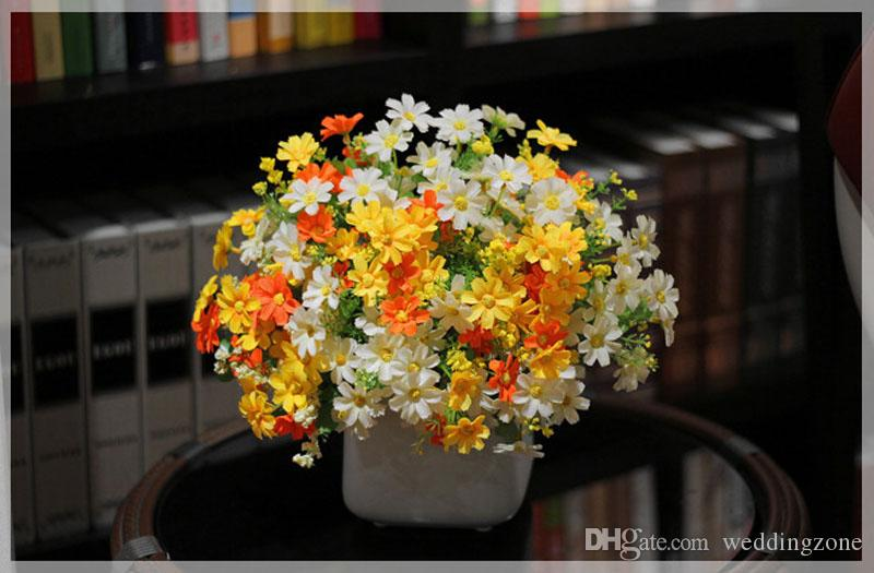 Daisy 10 inch [34.5 cm] Artificial plastic & Cloth flower Jumping Chrysanthemum for Home and Wedding Party garden decoration
