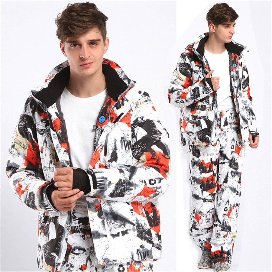 d6ed9f6c23 2019 Fashion Winter Men Ski Suit Super Warm Clothing Skiing Snowboard Jacket +Pants Suit Windproof Waterproof Winter Wear From Dlglobal