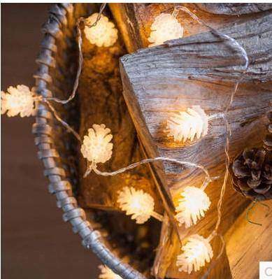 Riso bianco 2M 20 palline illumina cotone palla luce della stringa il Natale decorazione della barra festival all'aperto abbellire