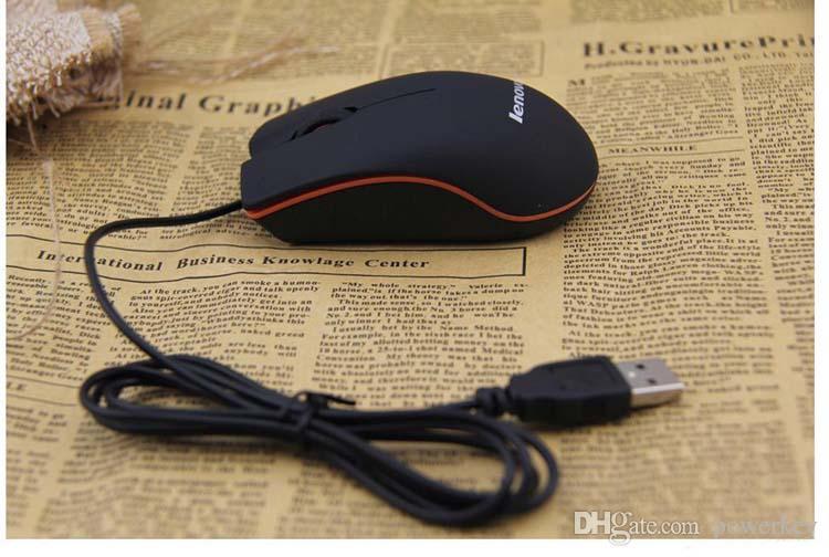USB الفأرة الضوئية البسيطة 3D الفئران الألعاب السلكية مع صندوق البيع للكمبيوتر المحمول لعبة الدفتري لينوفو M20 فيديكس دي إتش إل