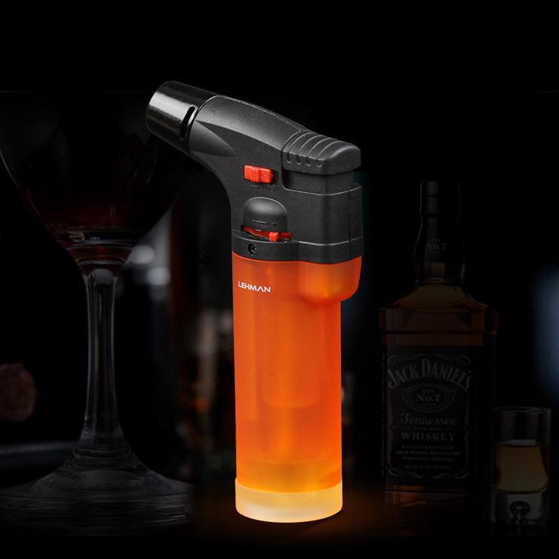 Personnalité de haute qualité créatif en plastique coupe-vent briquet portable jet torche briquet cigare pistolet briquet