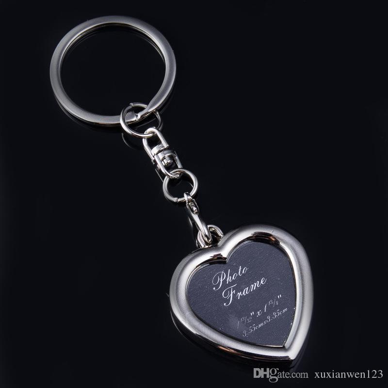 Foto Rahmen Schlüsselbund Handtasche Metall Schlüsselanhänger Werbegeschenk Trinket für Männer Frauen akzeptieren LOGO