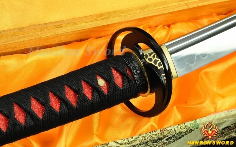 HANDMADE JAPANESE SAMURAI SWORD KATANA CLAY TEMPERED FULL TANG BLADE IRON TSUBA sj03