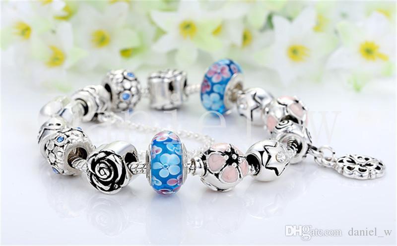Grânulos de charme para Pandora Pingente Pulseiras Cor Diferente Bead para homens e mulheres Estilo Europeu de Jóias
