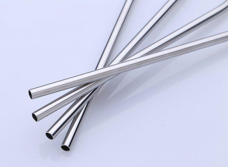 Tasses réutilisables pailles à boire en acier inoxydable paille 8.5-10.5 pouces pour les tasses pailles droites courbées Sip bien gobelet brosse de paille