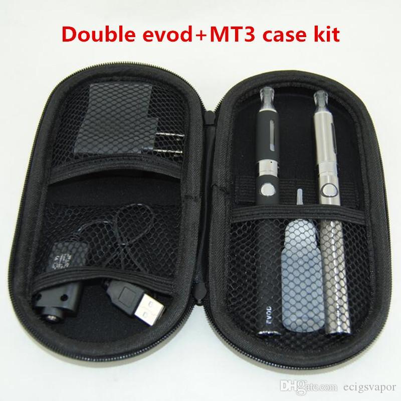mt3 evod doppelreißverschlusspackung eVod MT3 dual kits mit doppel evod batterien und mt3 vaporizerstift für evod double kits