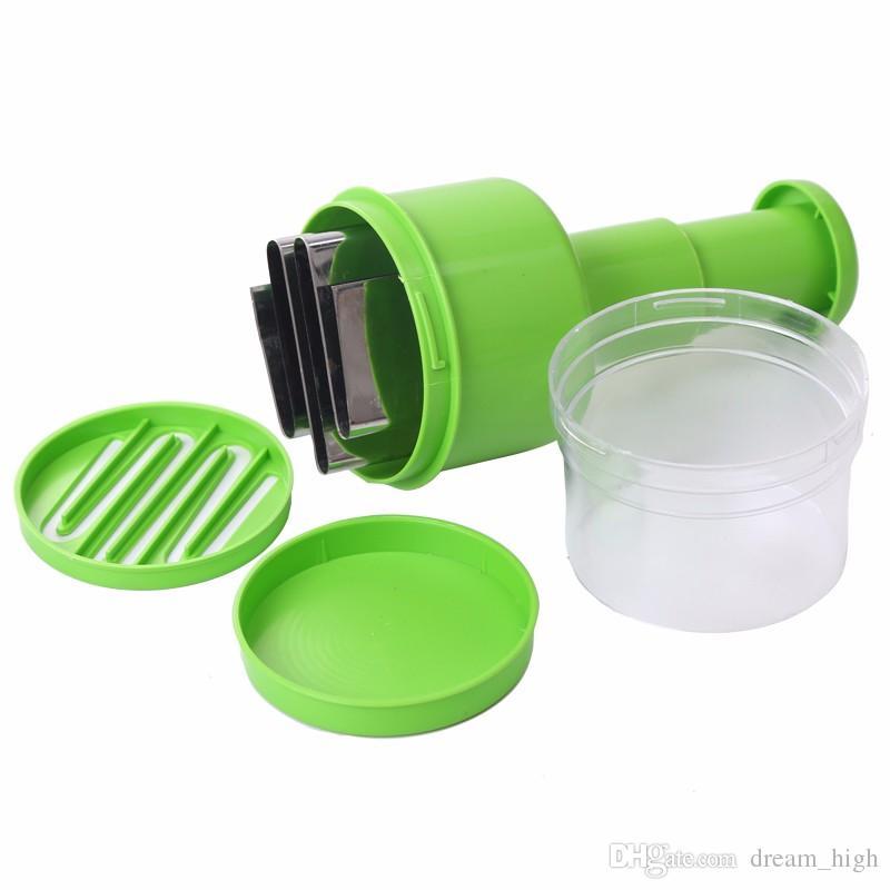 Aço inoxidável + ABS Mão Alho Prensas Dispositivo Multifuncional Chopper Cortador De Cebola Cozinha Vegetal Ferramenta De Corte De Frutas