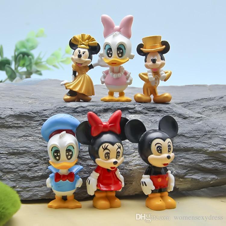 2018 Cartoon Mickey Minnie Donald Duck Resin Craft Fairy Garden ...