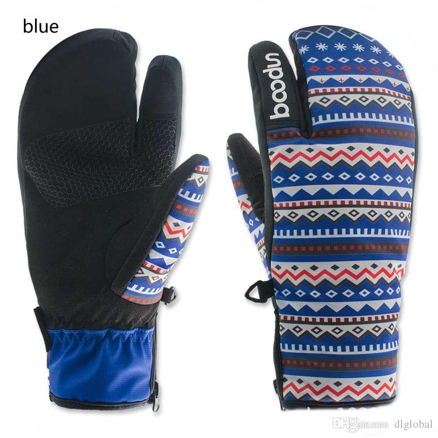 패션 겨울 스노우 보드 장갑 여자 스키 장갑 방풍 방수 비 슬립 스케이트 스키 장갑 코튼 따뜻한 장갑