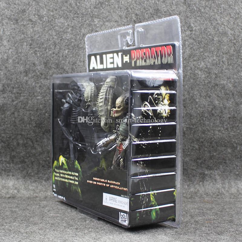 Neca alien vs rovdjur tru exklusiv 2-pack pvc action figur bästa julklapp leksak gratis frakt