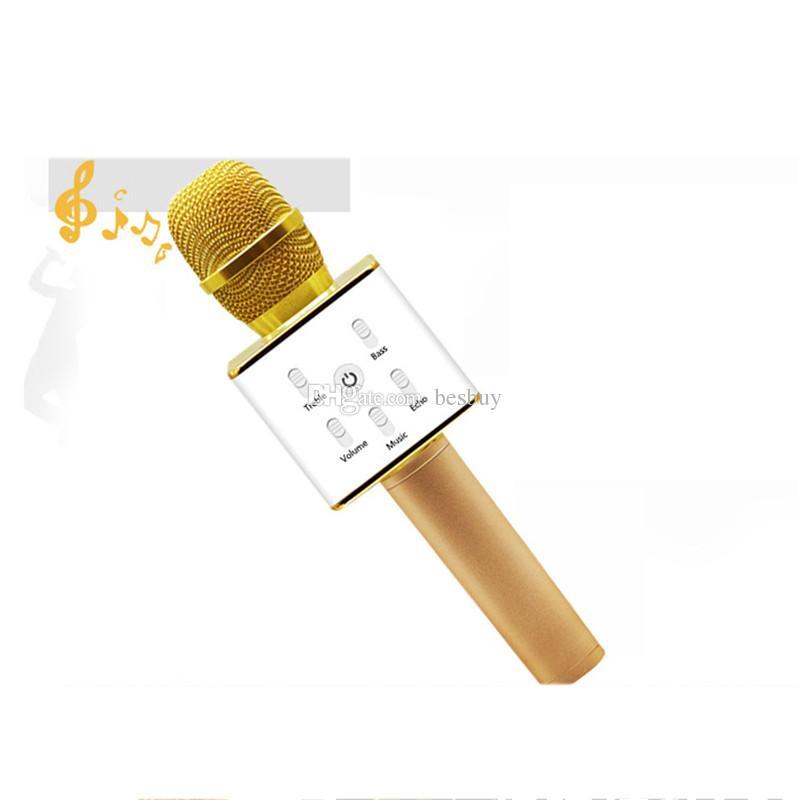 Q7 Bluetooth Microfone Portátil Portátil KTV KARALE KARALE JOADOR Loudspeaker Mic Speaker para iPhone 7 Plus Samsung S7