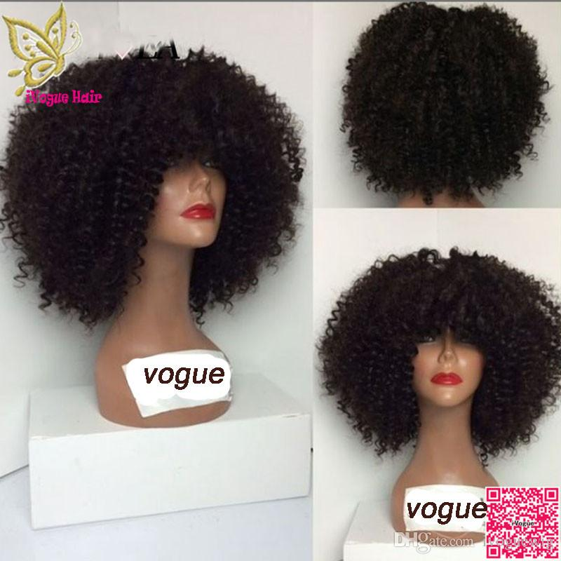 Short Afro Kinky Curly Wig Malaysian Human Hair Lace Front Wig Curly Glueless Full Lace Human Hair Wig 150 Density With Baby Hair