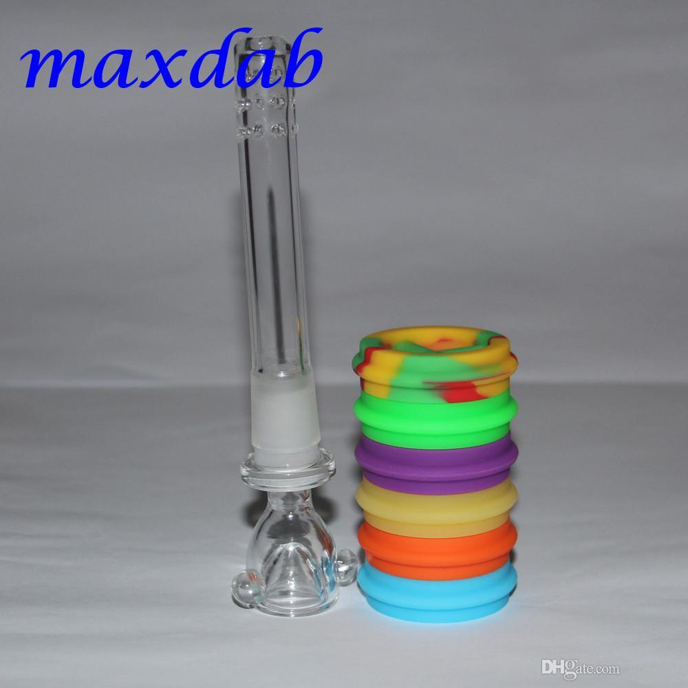 DHL ücretsiz nakliye silikon su boruları seçim için yedi renk silikon yağı kulesi su boruları silikon bong cam borular