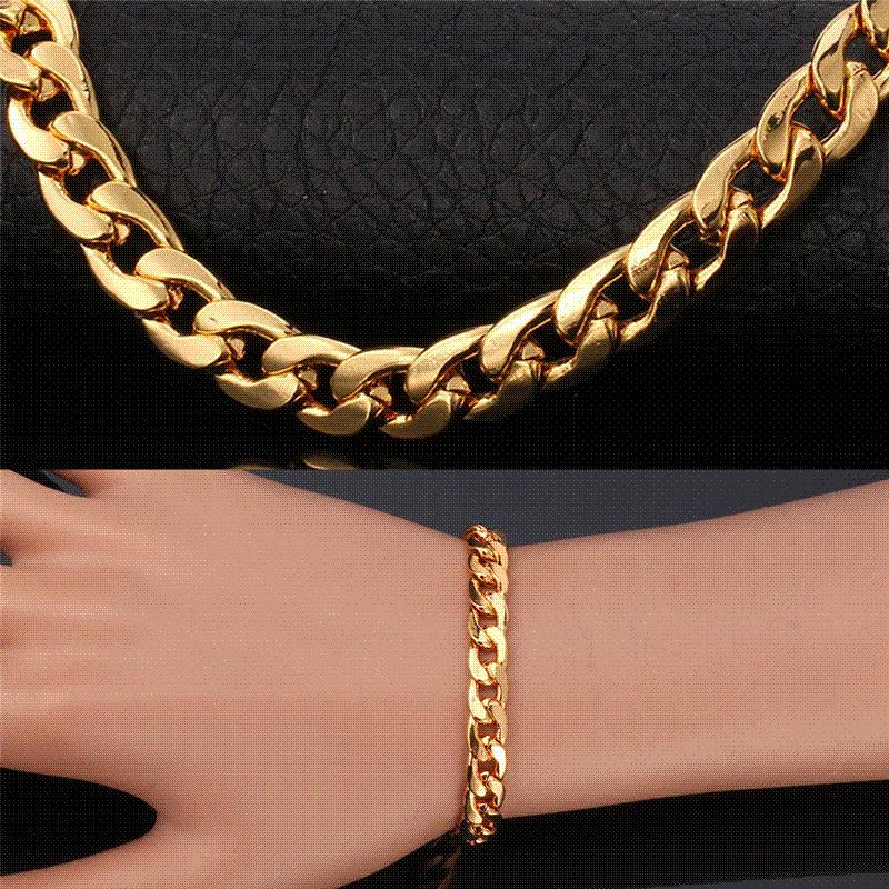 thick bracelet link gold chain s necklace claire