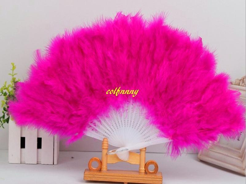 / Expédition rapide Feather Fans Ventilateur Pliant À La Main Fan Fancy Costumes Pour Articles De Fête De Mariage