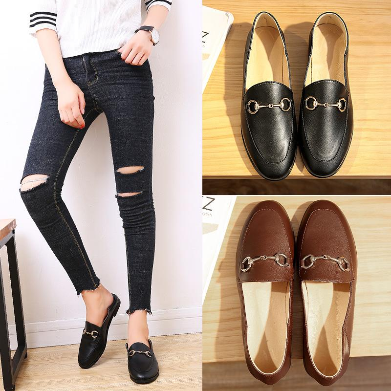 315c9c09670 New Fashion Women Casual Loafers Leather Slip On Dress Shoes Handmade  Smoking Slipper Women Flats Wedding Party Shoes Men Sandals Best Shoes From  Manager617 ...