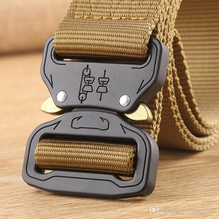 SWAT Combat Equipment Tactical Belt Men 1000D Nylon Metal Buckle Knock Off Belts US Army Soldier Carry Waist Belt,Duty Belt