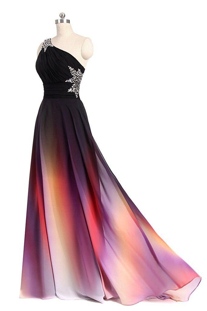 2017 Новый Элегантный градиент Пром платья с бисером аппликации этаж длина платья вечерние платья vestido де феста QS1086